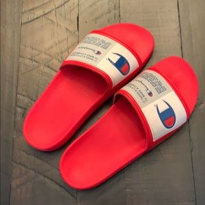 Red Champion Slides